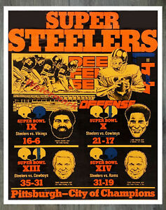 Pittsburgh Steelers Super Bowl Champs 4 for 4 Advertisemen REPRINT 8 X 10 Photo
