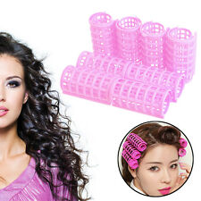 8PCS Cling Hair Salon Curlers Rollers Tool Soft Large Hairdressing Tools Plastic