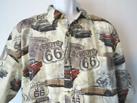 CLEARWATER OUTFITTERS HAWAIIAN SHIRT Classic Muscle Car Chevy Ford XL 2XL Cars