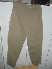 White Sierra Large Convertible Zip Off Mens Pants Shorts Nylon Hiking Camping