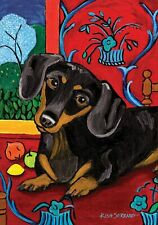 Toland Home Flag Only Muttisse Dachshund Dog 28 x 40� Charity Listing!