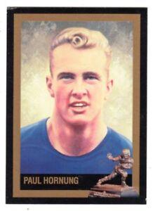 Paul Hornung Notre Dame Fighting Irish Scarce Series III Heisman Card FREE Ship