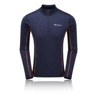 Montane Mens Dart Zip Neck Top - Navy Blue Sports Outdoors Half Breathable