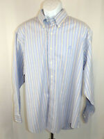 Brooks Brothers Men's XLarge Long Sleeve Blue Striped Button Down Dress Shirt