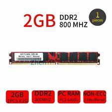2GB Module DDR2 800MHz PC2-6400U DIMM 240Pin CL6 Desktop PC Computer RAM Memory