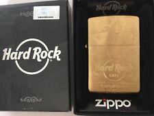 Zippo BRASS HARD ROCK CAFE EDINBURGH GUITAR