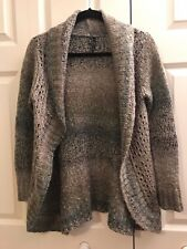 Maurice's Women's Open Front Long Cardigan Wool Blend Sweater Size Medium