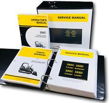 Technical Service Parts Operators Manual For John Deere 350c Crawler Bulldozer