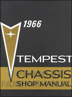 1966 Pontiac GTO Tempest and LeMans Repair Shop Manual Service Book with Wiring