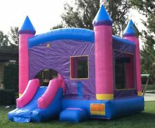 Commercial Grade Inflatable Bounce House Princess Combo Slide 100% PVC Vinyl
