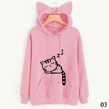 Vouge Women Cat Ear Hoodie Sweatshirt Hooded Coat Tops Long Sleeve Blouse RT