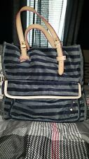 Juicy Couture Striped Velour tote