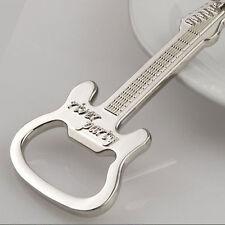 1 Pcs Metal Guitar Key Chain Ring Keychain Creative Beer Bottle Opener Na