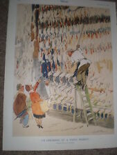 I'm Dreaming of a White Market by H H Harris 1948 old colour print ref K