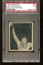 Neil Armstrong Signed 1948 Bowman #52 Autographed Eagles PSA 19547145