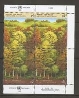 United Nations/Vienna SC # 80-81 Survival Of The Forrest . Inscription BLK4.MNH