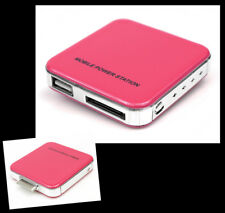 2200MAH PORTABLE EXTERNAL PINK BATTERY CHARGER USB IPHONE 4S 4 3GS IPOD NANO