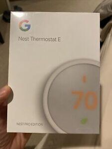 Google Nest Thermostat E T4001ES White Pro Edition - NEW SEALED