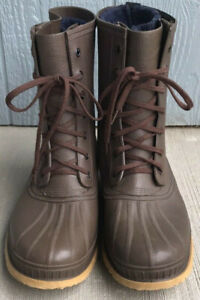 Sorel Kaufman Wool Insulated Boots Mens Size10 Brown Rubber Lace Up