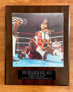 Muhammad Ali Gorge Foreman RUMBLE IN THE JUNGLE Signed Collectable Vintage