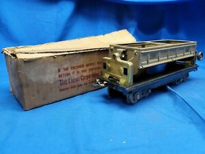 Lionel Standard Gauge 218 Mojave Dump Car With Two Brass Knobs With Original Box