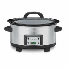 Cuisinart 6.5 QT Programmable Slow Cooker, Stainless (Certified Refurbished)