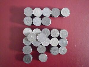 5 Reichspfennig-Lot 1941,1942 u. 1944, Jg.370, ca.227 Stück, 570 g., Zink