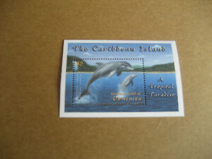 DOMINICA   THE CARIBBEAN-TROPICAL WONDERLAND SOUVENIR SHEET  -DOLPHINS