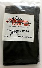 "Mtn Cork Brown Cloth Bag Fits One Piece 6' to 7' Big Water Rod 85""L x 4 1/2""W"
