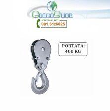 Gancio di carico con carrucola per paranco/verricello/argano/montacarico 400 Kg
