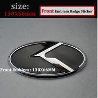 1x 130x66 mm  für KIA für vorderes Emblem-Schwarz