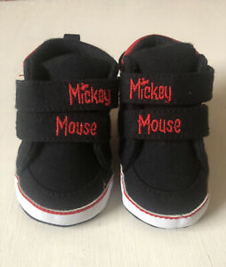 Disney Mickey Mouse Shoes - Slippers- Infant Size 3-6 months NWOT