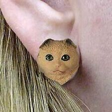 Conversation Concepts Brown Tabby Scottish Fold Earrings Post