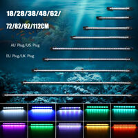20-130CM 9-64LED Aquarium Poisson Lampe Bar Lumière Éclairage Submersible+Remote