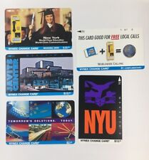 Lot Of 5 Nynex Change Cards Telecard 1995 Phone Cards Mint (7176)
