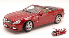 Mercedes SL-550 2009 Amarant Red 1:18 Model MAISTO