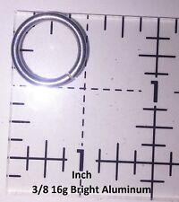 """500 3/8 """" 16g Bright Aluminum JUMP RINGS SAW CUT Chainmail chain mail"""