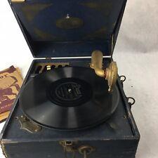 Antique SILVERTONE PORTABLE GRAMMOPHONE PHONOGRAPH