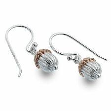 Last Pair!  Sterling Silver Jewellery: 10mm x 5mm Acorn Drop Earrings With Ro...