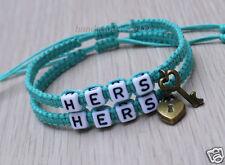 Couples Bracelet  Hers and Hers Key Lock Bracelet Gay Lesbian Bracelets