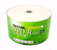600 Blank SKYTOR DVD-R DVDR 16X White Inkjet Printable 4.7GB Recordable Disc