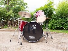 Acoustic Drum Kit - Percussion Plus - Beginners or Practice Kit - Remo Heads