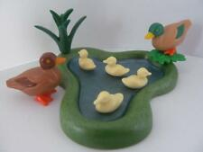 Playmobil Pond scenery with ducks & ducklings NEW for farm/zoo/forest sets