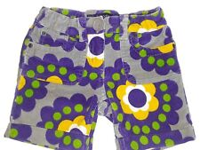 Mini Boden Girls' set of Floral Shorts and Girl with Headphones Shirt Size 6-7