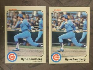 2-1983 FLEER #507 RYNE SANDBERG RC HOF LOT