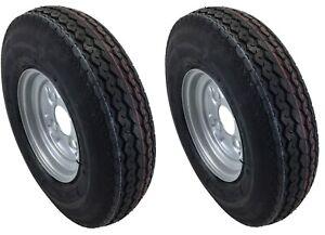 2 Stück Komplettrad 4.80 / 4.00-8 62M 8-Zoll Anhänger Rad Reifen Felge Deli DDR