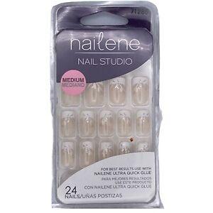 Nailene artificial nails medium length 24 nails