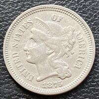 1875 Three Cent Piece Nickel 3c Higher Grade. XF Details #29553