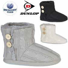 Ladies Slippers Womens Ankle Boots New Knitted Winter Warm Fur Booties Size 3- 9
