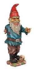 Zombie Gnome Scary Undead Statue Halloween Figurine Zombi Gnomo Duende